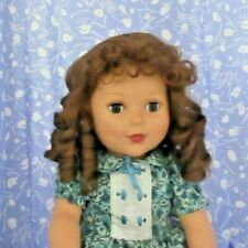 Imsco ANNETTE LT. Brown Full Cap Doll Wig Size 12-13 Long Ringlets, Curly Bangs