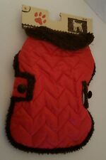 """Us Seller Dog Coat Red Size S Small 12""""-13"""" Norfolk Terrier Toy Poodle New Nwt"""