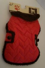"US SELLER Dog Coat Red Size S Small 12""-13"" Norfolk Terrier Toy Poodle NEW NWT"