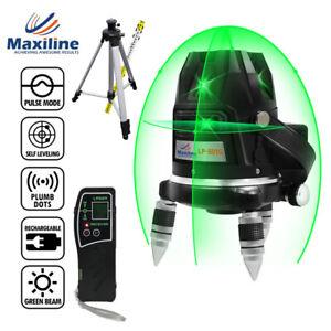 5 Green Beam 4V1HG Self Leveling Cross Line Laser Level Rotary Base LP601G Video