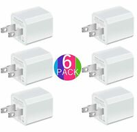 Boost Portable 5V USB Charger [6-Pack] USB Wall Charger for iPhone, Rapid 1.0...
