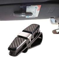 Car Sun Visor Glasses Sunglasses Card Ticket Holder Clip Interior Accessories