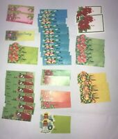 Vintage Christmas Gift Tags Package Decorations Bells Poinsettia Angels Lot