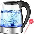 1.8L 1500W Electric Kettle Glass Tea Kettle Fast Boiling Auto Shut-off LED Light photo