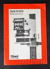 Durst M805 Bedienungsanleitung deutsch 06089