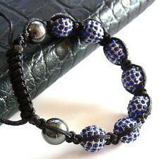 Shamballa Armband Power Beadskugeln Kings Blue Black Unisex Valuable