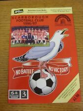 30/03/1996 Scarborough v Preston North End  (Excellent Condition)