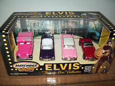 "MATCHBOX ELVIS FOUR ""FAVORITE CARS"" COLLECTION, 1:64 SCALE, JEEP, MGA, 2 CADDYS"