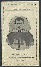 Estampa antigua del Siervo Domingo andachtsbild santino holy card santini