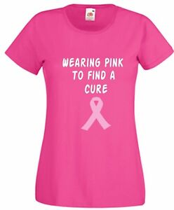 .....Breast Cancer Pink T Shirt Find A Cure  T  Wear It Pink Friday For Life Top