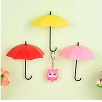 6pcs Key Holder Jewelry Hanger Colorful Umbrella Wall Rack Wall Key Organizer