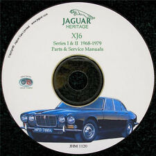 Jaguar XJ6 (Series I & II) Workshop Parts and Service Manual on CD '68-'79 Used