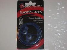 """Ten Seconds Elastic Stretch Shoelaces Shoe Laces Lock Lace Blue 36"""" Unisex"""