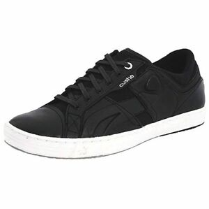 Cushe The Standard Mens Leather Black Casual Walking Sneaker Trainers Shoes Size