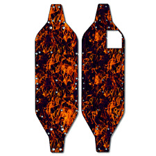 Traxxas XO-1 - Thick Chassis Protector Kit - Orange Flames TRA6407
