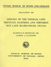 Tonopah GOLD MINES, NV,1st ed report, only 2000 printed, 2 BIG separate maps !