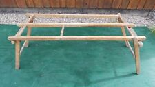 Antique Wood Wash Tub Stand Bench Rack FOLDS UP