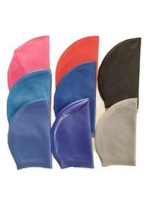Bonnet de bain adulte mixte en silicone 8 couleurs