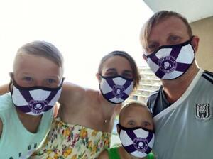 Fabric Face Mask With Non Woven Filter Reusable Breathable Polution Allergies