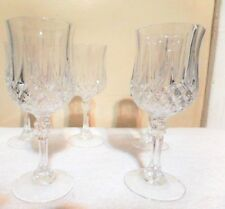 "5 Pc Set Cristal D'Arques Longchamp 6.5"" Crystal Clear Wine Glasses"