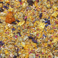 Dried Flower Mix 50g - 1kg, Rabbit Treat, Reptile Food, Tortoise, Degu