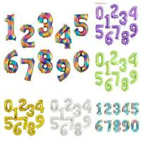 40'' Numbers Foil Balloon Baby Shower Birthday Party Wedding Decoration 9 Colors