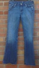 Ladies Seven 7 for All Mankind bootcut Stretch faded Blue Jeans sz 12 ins leg 32