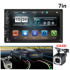 Car 7in MP4 Bluetooth FM Stereo Radio MP5 Player+Dynamic Track Rearview Camera