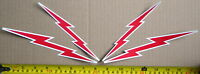 """LOT OF 4 GLOSSY STICKERS, """"LIGHTNING"""", FOR INDOOR OR OUTDOOR USE."""