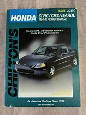 Chilton Repair Manual for Honda Civic CRX Del Sol 1984-95 Paperback 8256 30200