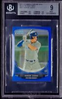 BGS 9 w/9.5 AARON JUDGE 2013 Bowman Chrome Mini BLUE REFRACTOR RC #/99 MINT RARE