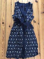 J Crew Ikat Wrap Dress Size 6 Small S Navy Blue NWT C4244