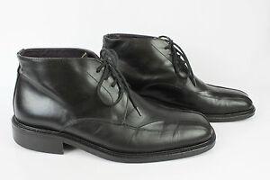 Bottines Boots à Lacets MINELLI Tout Cuir Noir T 42 TBE