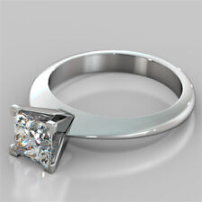 1.50 Ct Solitaire Diamond Engagement Proposal Ring Hallmarked Real Gold Wedding