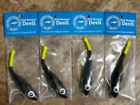 4 PAUL BROWN DEVIL PURPLE / BLACK / YELLOW TAIL DEVIL-97  B&L MIRROLURE CORKY