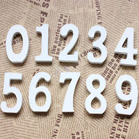 White Wood Wooden letters Alphabet Numbers For Wedding Birthday Home Garnish