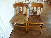 Vintage Antique rush seat chair lot each slightly different  pickup 19119