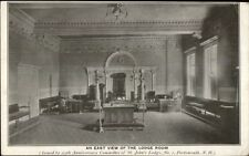 Portsmouth NH East View Lodge Room c1910 Postcard