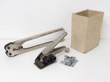 Set Umreifungsgerät / Bandspanner mit Verschlusszange & Verschlusshülsen, 13 mm