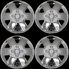 "15"" Set of 4 CHROME Hub Caps Full Wheel Covers Rim Cover Wheels Rims FREE SHIP !"