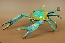 Hot Cast Large Multi Color Nautical Ocean Sea Crab Home Decor Bronze Statue Deal
