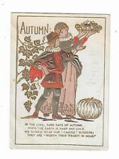 Trade Card Candee Rubber Boots & Shoes Queen City Autumn John Brower Herndon PA