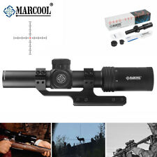 MARCOOL 1-6x24mm Rifle scope Illuminated Ballistic Reticle w/ Cantilever Mount