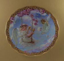 Sandra Kuck's Gardens of Innocence Sweetly Swinging Plate #2 Angel Floral