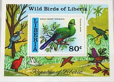 LIBERIA 1977 Block 85 S/S 783 Wild Birds Vögel Fauna Gold Coast Touraco MNH