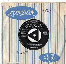"Pat Boone - I'll Remember Tonight 7"" Single 1958"