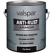 NEW GALLON VALSPAR 6408090 FLAT BLACK ANTI-RUST INDUSTRIAL ENAMEL OIL PAINT SALE