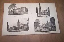 MANTOVA, CREMONA  stampa antica 1859 vedi foto