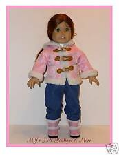 Pink Toggle Jacket Coat fits American Girl Doll