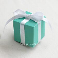 30 x AQUA FAVOUR BOXES Blue Green Wedding Hens Baby Shower Bombonieres - SECONDS
